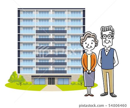 年長夫婦:家,公寓 54806460