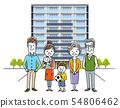 3 generation family: apartment 54806462