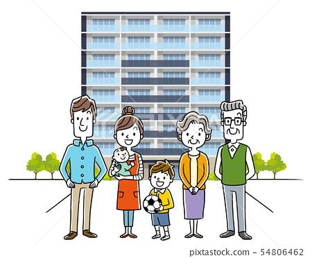 3 세대 가족 : 아파트 54806462