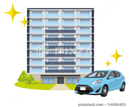 房子,公寓,汽車,汽車,汽車 54806463