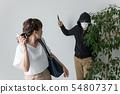 칼을 가지고 여성을 습격 남성 54807371