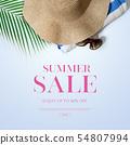 插圖,夏天,出售 54807994