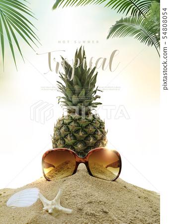 일러스트,여름,휴가 54808054