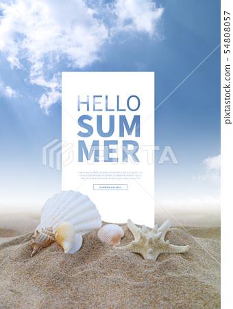 일러스트,여름,휴가 54808057