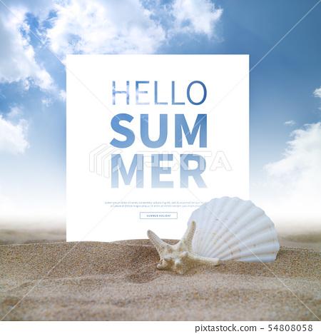 일러스트,여름,휴가 54808058