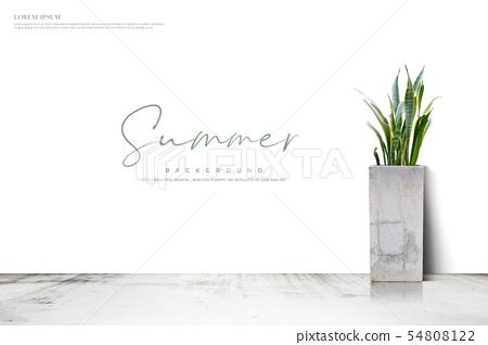 일러스트,여름,배경 54808122