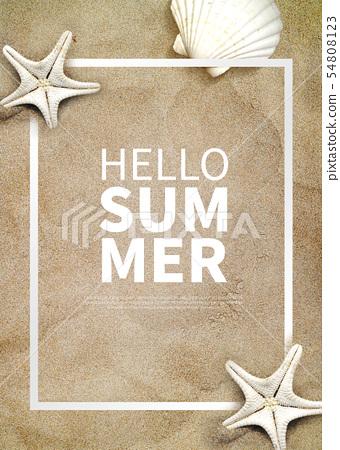 Illustration, summer, sale 54808123