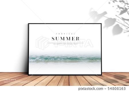일러스트,여름,배경 54808163
