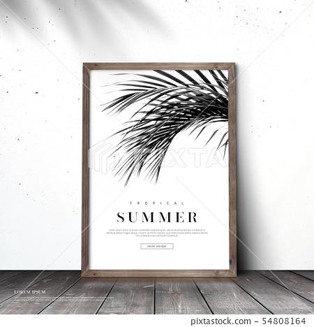 일러스트,여름,배경 54808164