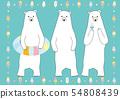 북극곰과 아이스와 튜브와 54808439