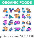 Organic Foods Vector Color Line Icons Set 54811138