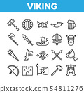 Vikings Life Active Rest Vector Thin Line Icons Set 54811276