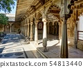 City Palace at the Pichola Lake in Udaipur in Rajasthan, India 54813440