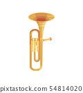 Copper trompett. Wind instrument. Vector illustration on white background. 54814020