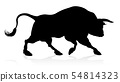 Bull Silhouette 54814323