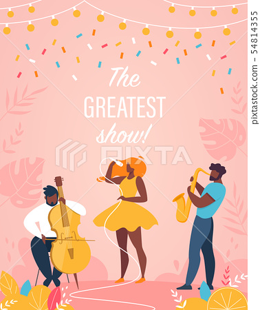 Greatest Show Vertical Banner Jazz Band Performing 54814355