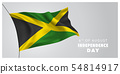 Jamaica happy independence day greeting card, 54814917