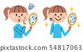 少年粉刺例证 54817063