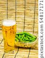 맥주와 완두콩 54817171