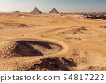 Panorama of the Great Pyramids of Giza, Egypt 54817222