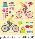 Sport bikers girl and boy people on bicycles activity fun woman and man on bicycles. Urban female 54817885
