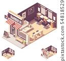 Vector isometric barbershop interior 54818529
