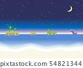 Summer sea beach night 54821344