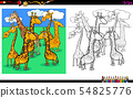 giraffes animal characters coloring book 54825776