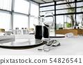 Inside a stylish French restaurant 54826541
