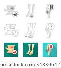 Isolated object of hospital and rendering icon. Set of hospital and help vector icon for stock. 54830642