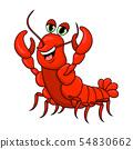 crawfish cartoon cute character illustration 54830662