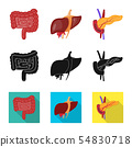 Isolated object of biology and scientific icon. Collection of biology and laboratory vector icon for 54830718