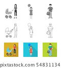 Vector illustration of character and avatar sign. Set of character and portrait stock vector 54831134