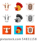 Vector design of agriculture and breeding icon. Set of agriculture and organic stock symbol for web. 54831158