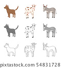 Isolated object of breeding and kitchen symbol. Collection of breeding and organic stock vector 54831728