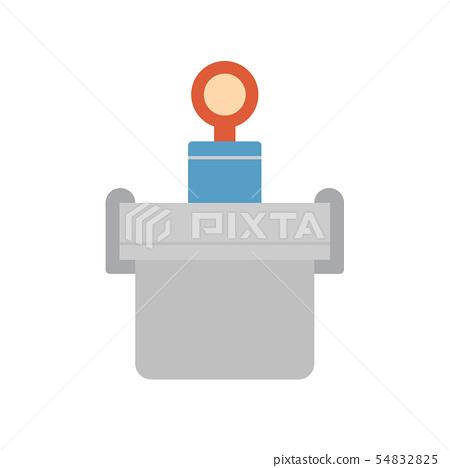 concrete testing icon 54832825