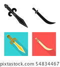 Isolated object of game and armor icon. Set of game and blade vector icon for stock. 54834467