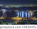 오사카 도시 풍경 · 오사카 항 (남항) · 야경 54836491