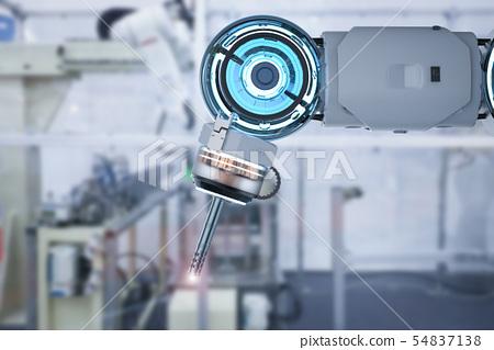 welder robotic arm 54837138