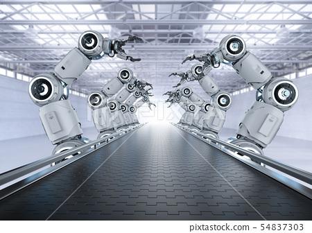 Robot assembly line 54837303
