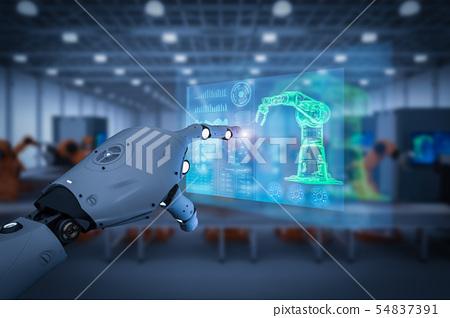 cyborg control robot arm 54837391