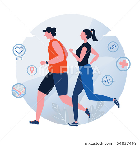 Running. Jogging. World Health Day. Healthy 54837468