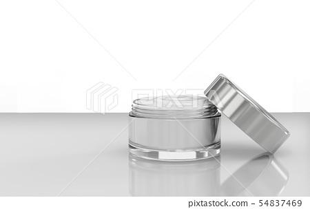 cream in open pot 54837469