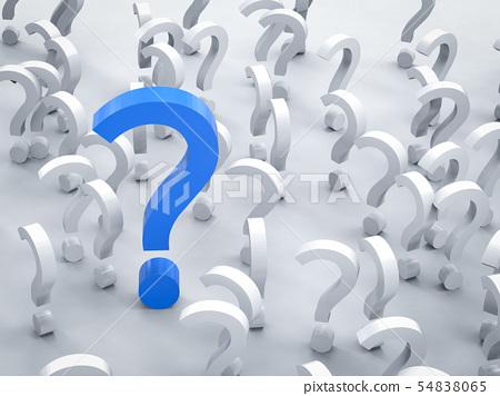blue question mark 54838065