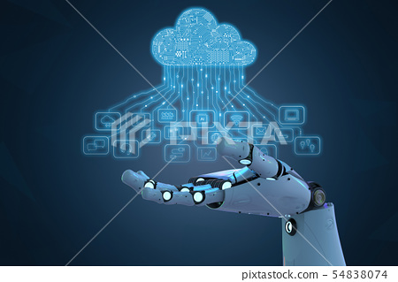 robot with cloud computer 54838074