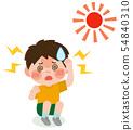男孩中暑II度例证 54840310