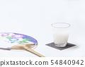 Chilled sweet sake drink health drink drink drip image material 54840942