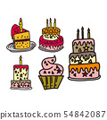 Cake Birthday Design Graphic Template Vector 54842087