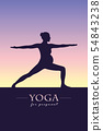 yoga for pregnant women silhouette 54843238