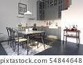 modern loft kitchen interior design. 54844648